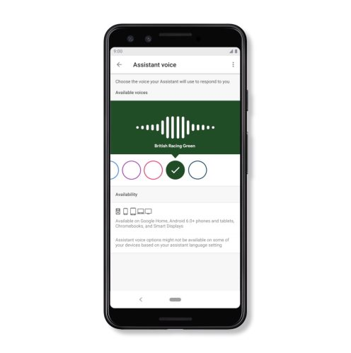 Google Assistant Australian voice
