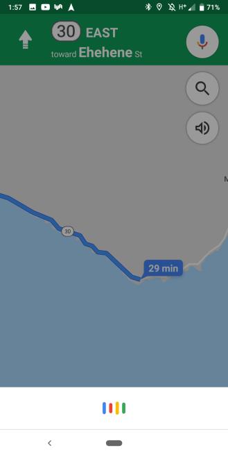 Google Assistant Maps navigation