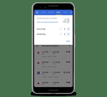 google-flights-bag-pricing