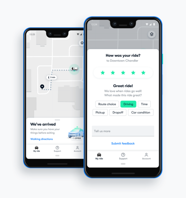 Waymo One app