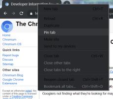 Google Chrome Dark Mode Windows tab context