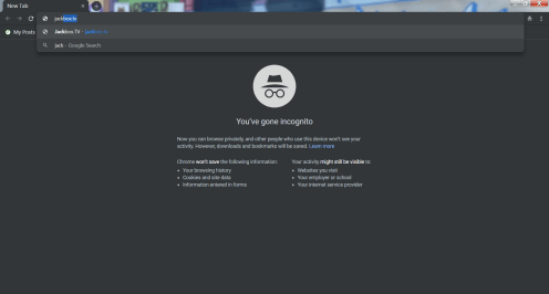 Google Chrome Incognito Omnibox