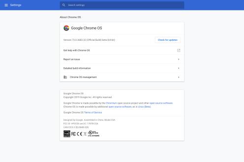 Chrome OS 73