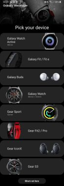 Samsung wearables lineup