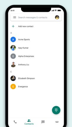Google Voice iOS Material Theme