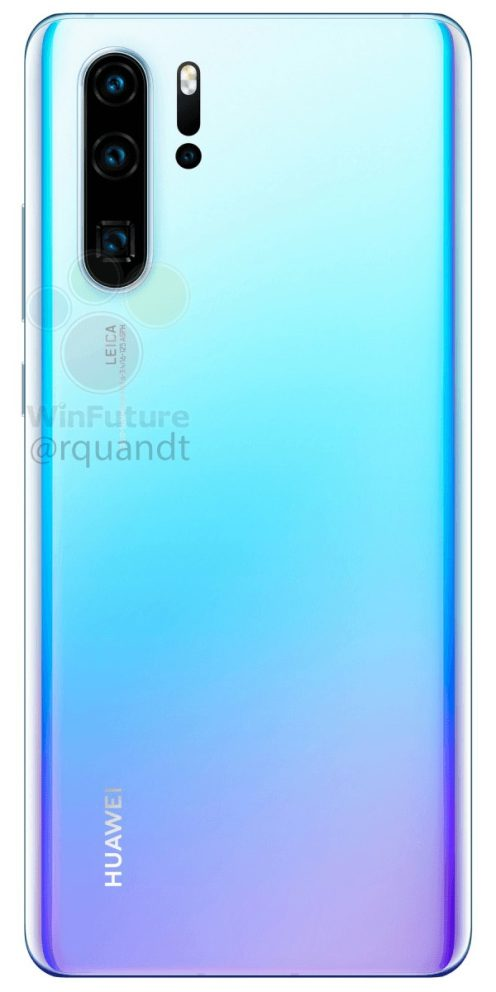 Huawei P30 Pro render back
