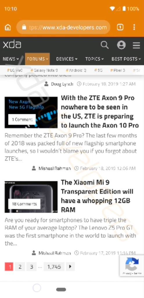 new Android Q navigation gestures