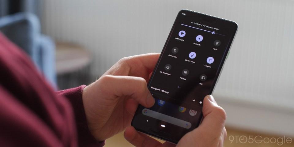 Mode Gelap Android Q Beta 1