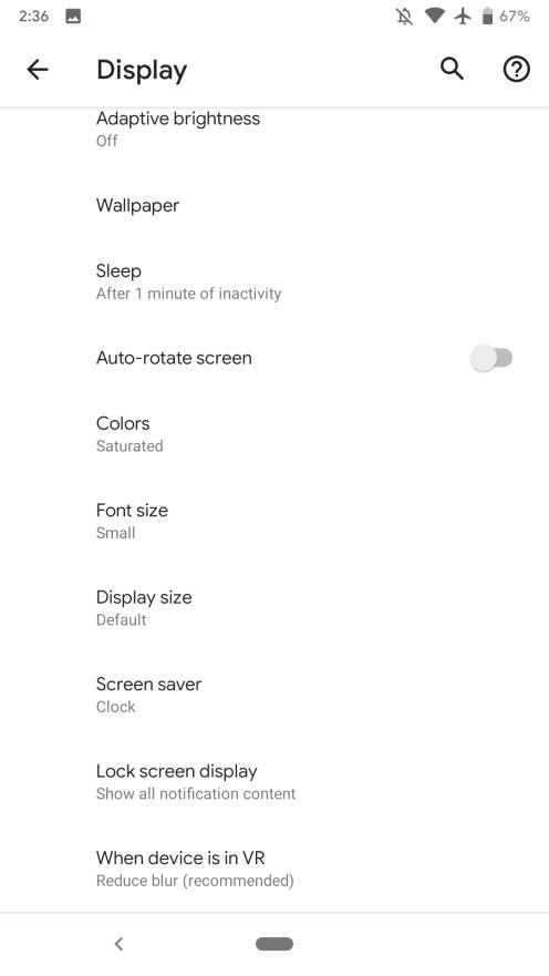 Android Q Beta AOD