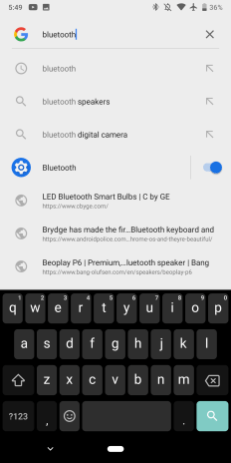 Android Slices settings Pixel