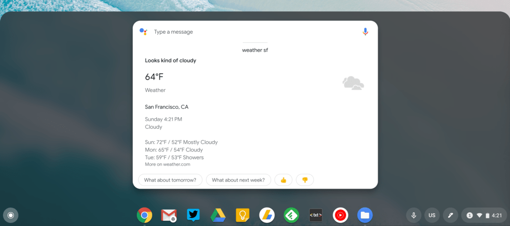 Chrome OS 74 Assistant