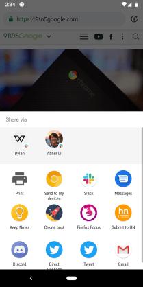Chrome Share Tab