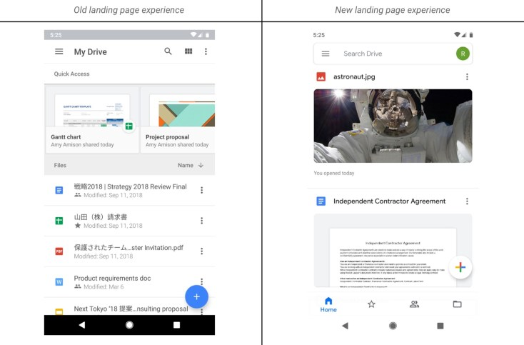 Google Drive Material Theme