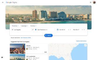 Google Flights Material Theme