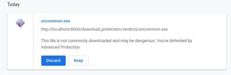 Chrome Advanced Protection uncommon file