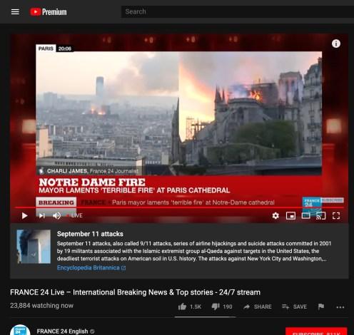 YouTube fake news algorithm Notre Dame