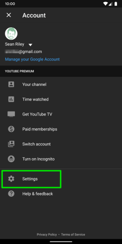 YouTube-Android-Account-Menu