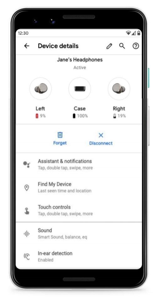 android q bluetooth device menu