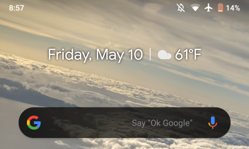 Google app 9.88 dark widget