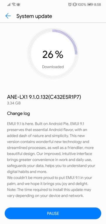 EMUI 9.1 beta update