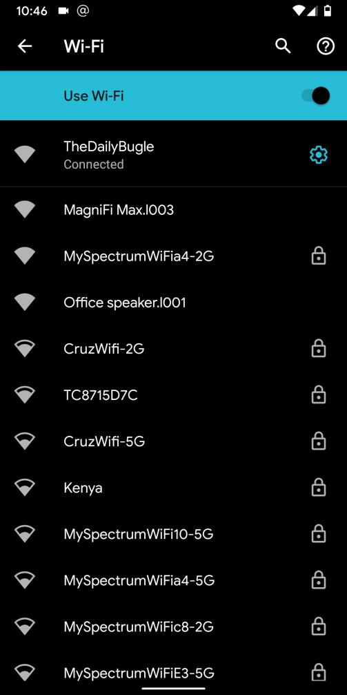 android q beta 4 wifi icon