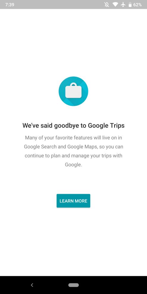 [Update: Nicht mehr verfügbar] Google wird Google Trips am 5. August nicht mehr unterstützen