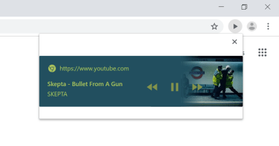 chrome global media controls in action