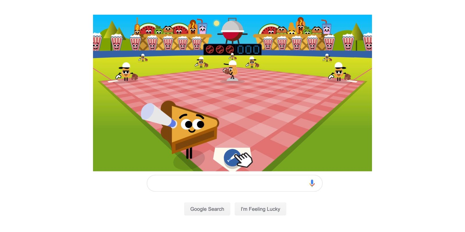 Google S Fourth Of July Doodle Is A Bbq Baseball Game