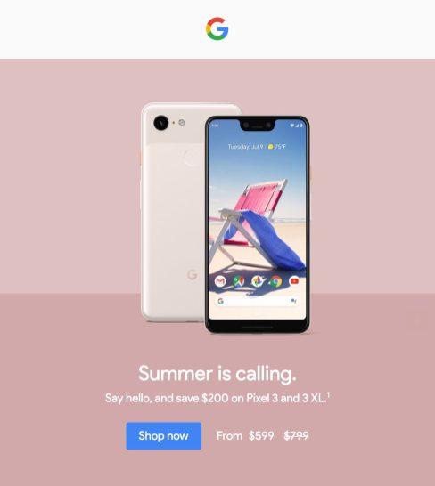 Google Store Pixel 3 glitch
