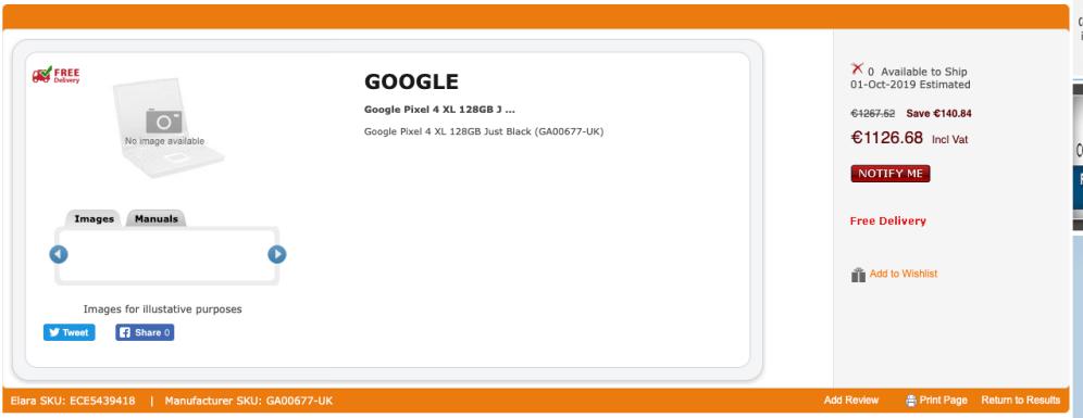 Buy Google Pixel 4 XL 128GB Just B .. | GA00677-UK 2019-09-20 16-38-22