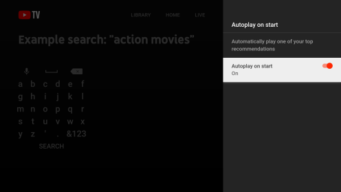 youtube tv autoplay feature