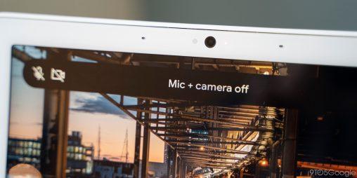 nest hub max camera microphone mute switch