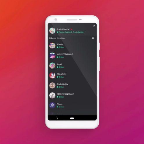 Google Stadia Android app ui