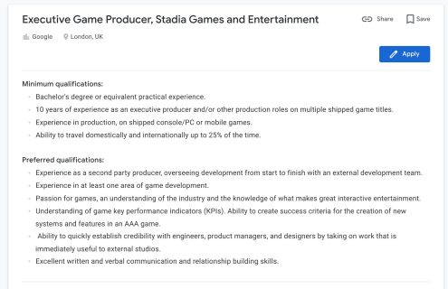 stadia-executive-game-producer-london