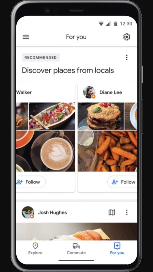 Google Maps local recommendations