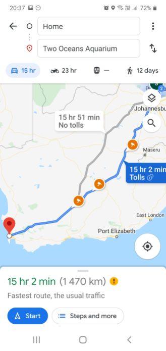 Open Maps, set a destination and start navigation