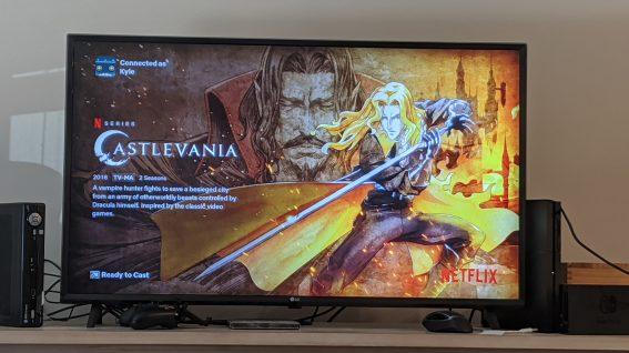 Chromecast Netflix redesign