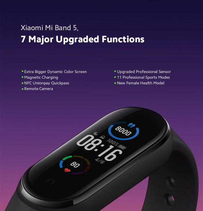 Xiaomi Mi Band 5 goes official w/ $30 price-tag, color screen - 9to5Google