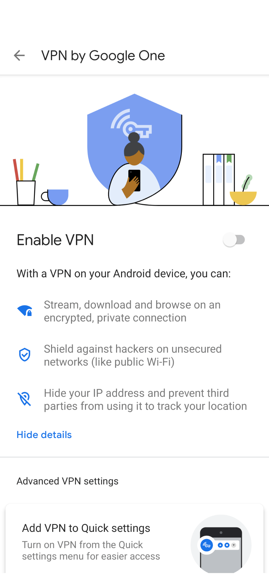 VPN by Google One on Android