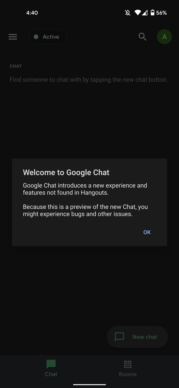 Google Chat classic Hangouts