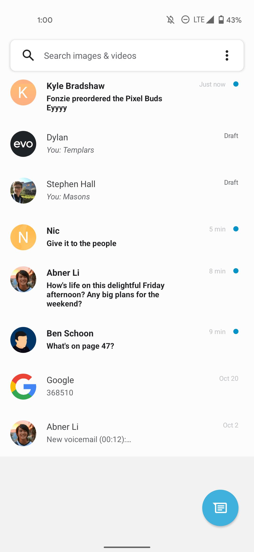 Google Messages One UI Pixel