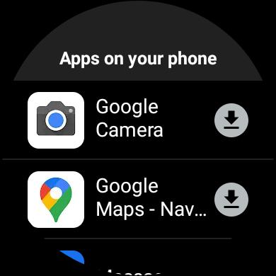Wear OS app install