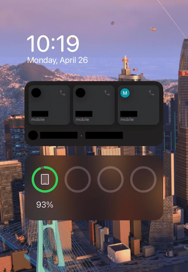 Google Voice iOS widget
