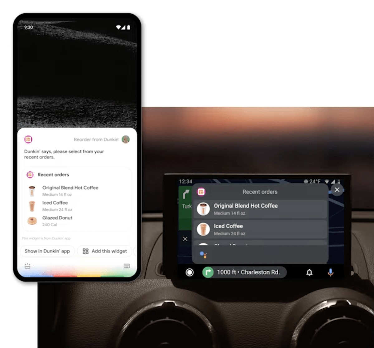 Android widgets Google Assistant