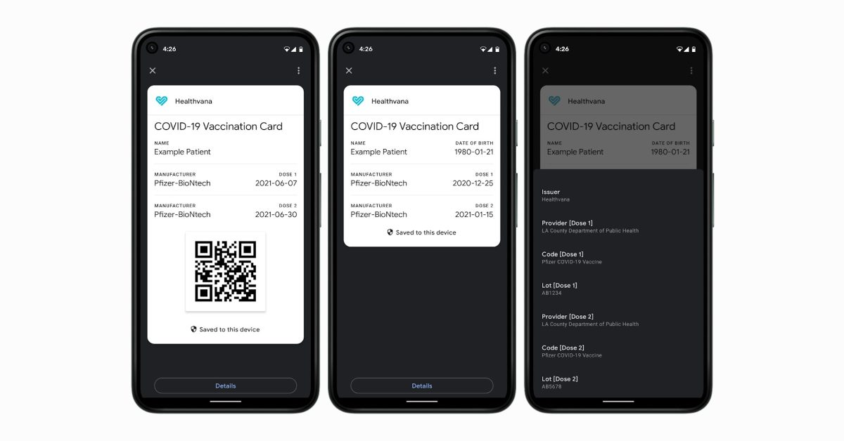 Google Pay gains the ability to save and display COVID vaccination cards on Android