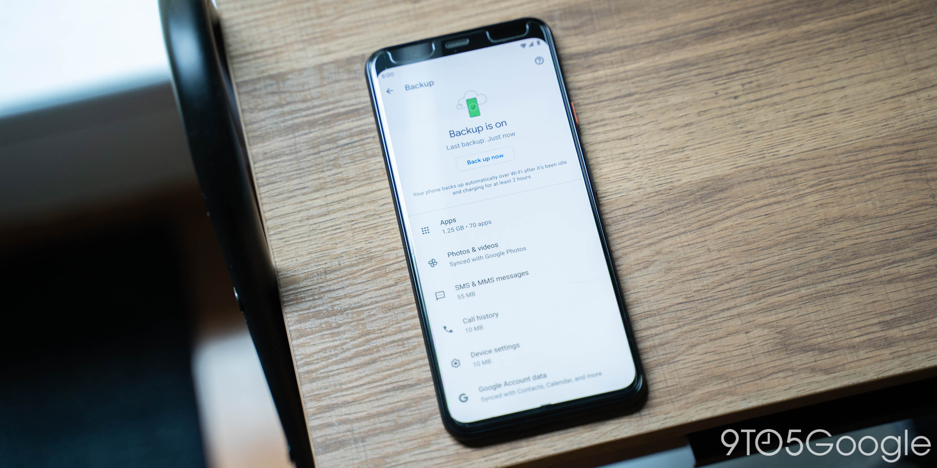 Backup Google One Android