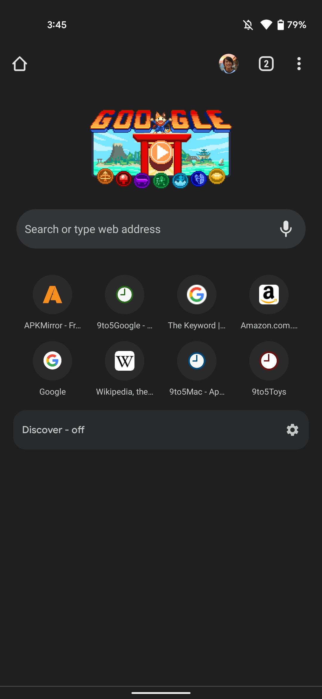 Chrome dark theme Android