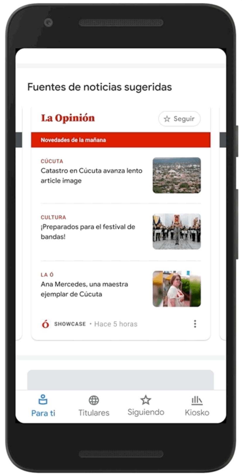 Google News Showcase Colombia