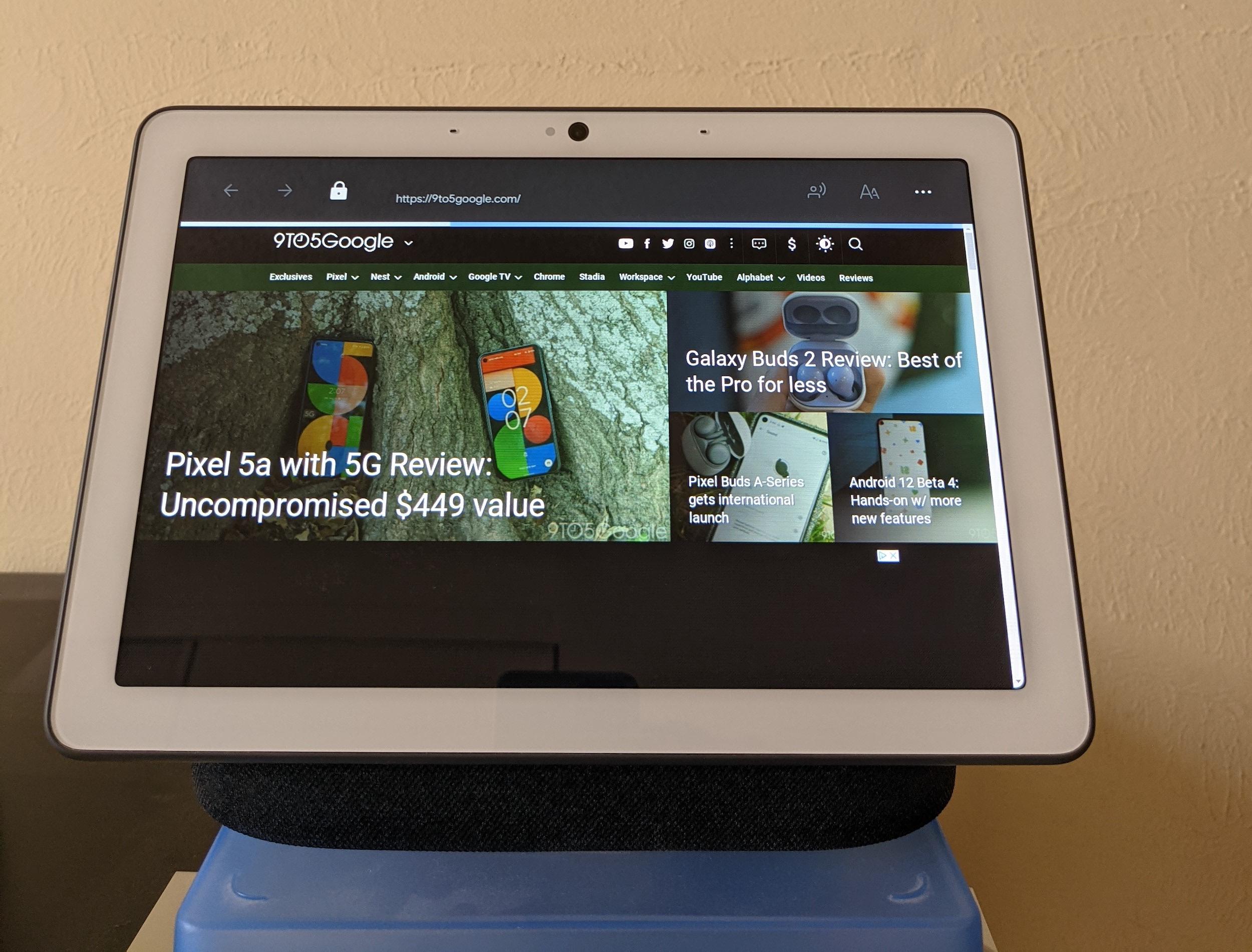 Nest Hub browser read TTS