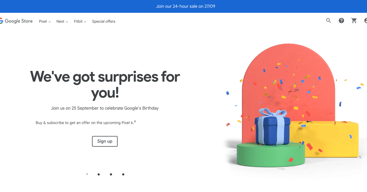 International Google Store birthday sale teases Pixel 6 'offer' if you buy something this weekend thumbnail